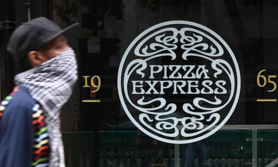 Pizza Express restaurant, London, 16 July 2020.