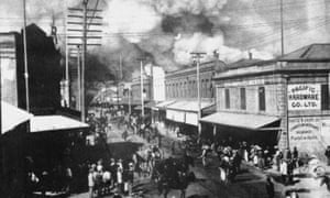 Drastic measures … the botched attempt to burn Honolulu's stricken Chinatown in 1900.