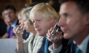 Theresa May and Boris Johnson at Chequers