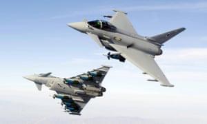 RAF Typhoon fighter jets.