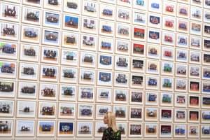 "British artist Steve McQueen's  ""Year 3"" installation at Tate Britain in London, UK"