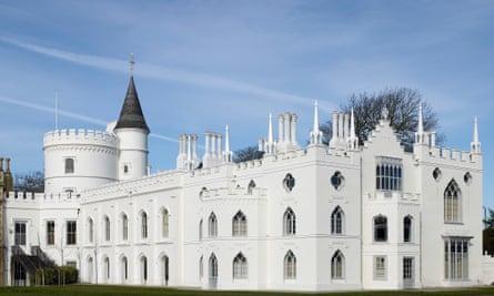 'Little gothic castle' … Walpole's home, Strawberry Hill, in Twickenham.