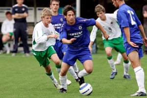 Dean Furman in action for Chelsea during an academy match against Northern Ireland