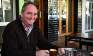 Barnaby Joyce has a coffee in downtown Tamworth the morning after the 2016 election.