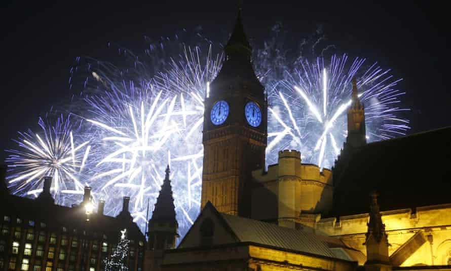 2016 new year London fireworks