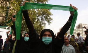 Green movement protests in Iran in 2009.