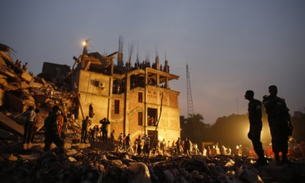 The aftermath of Rana Plaza. The catastrophe put discount retailers, including Primark, in the spotlight.