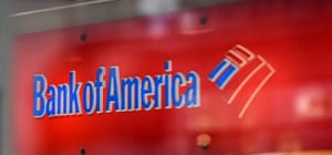 A Bank of America logo is seen in New York City.