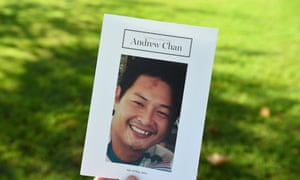 The order of sevice is seen at the funeral sevice for Bali Nine member Andrew Chan, in Sydney, on Friday, 8 May 8.
