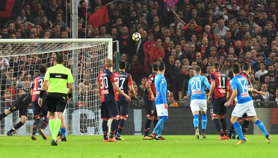 Dries Mertens curls in a sublime free-kick.
