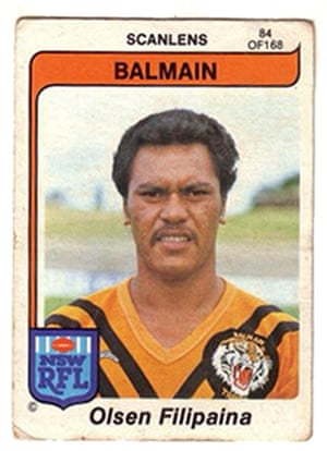 Filipaina in his days playing for Balmain.