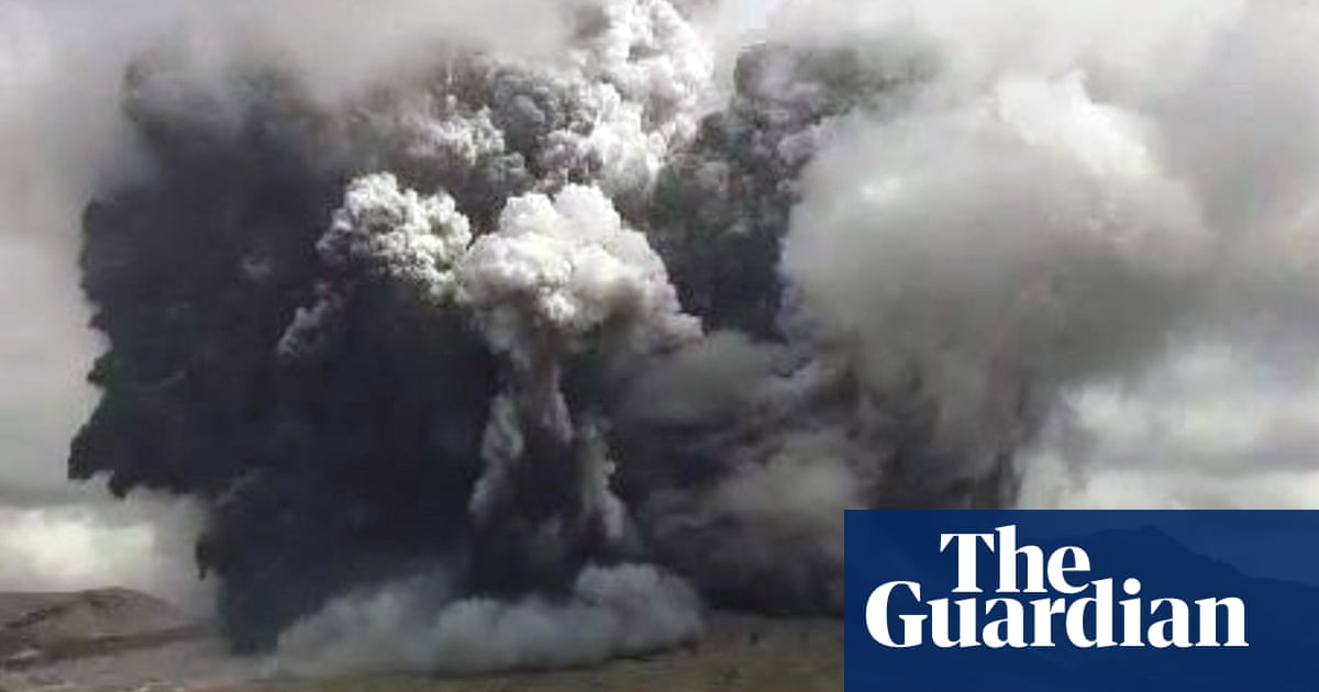 Volcano spews ash two miles into the sky in Japan – video