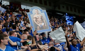 Leicester fans with sign about Gary Lineker
