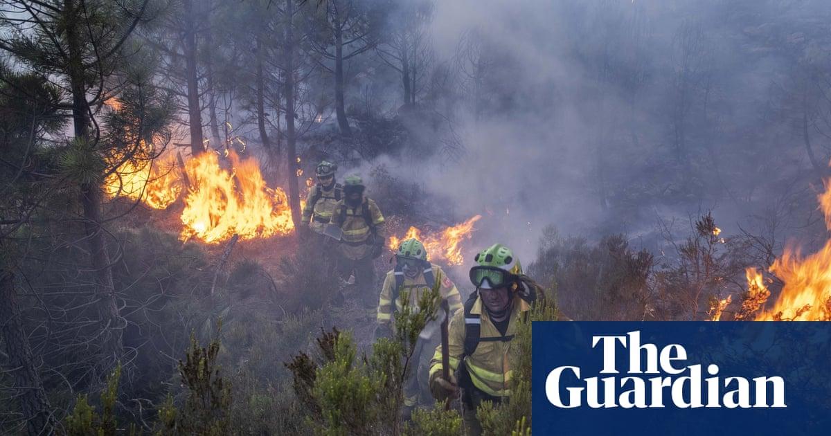 Spain wildfire: almost 1,000 emergency workers fighting blaze