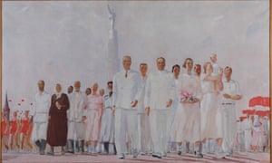 Alexander Deineka's Stakhanovites Exposition in Paris.