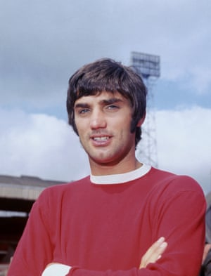 An iconic shot of Best in his Manchester United kit in 1968