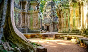The beautiful ruins of the temples at Ta Prohm<br>KPK29A The beautiful ruins of the temples at Ta Prohm