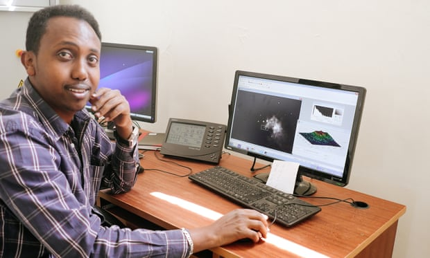 Ghion Ashenafi, an electrical engineer, at the Entoto observatory.
