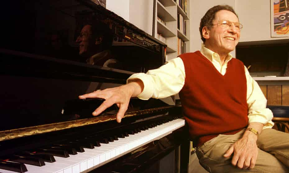 Tom Lehrer at home in Santa Cruz, 2000.