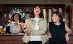 Lucy Hird, centre, as Andrea Dunbar in Black Teeth and a Brilliant Smile by Freedom Studios.
