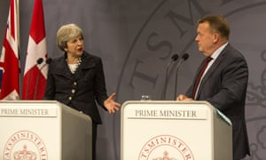 Theresa May and Lars Lökke Rasmussen