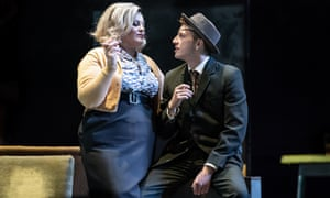 Jodie Prenger (Helen) and Tom Varey (Peter) in the National's current tour of A Taste of Honey