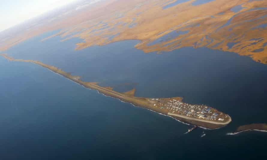 The island village of Kivalina in Alaska is at risk from rising sea levels. Alaska had its warmest recorded year to date.