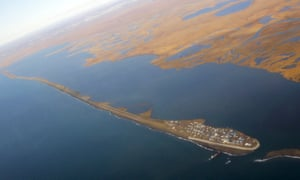 The village of Kivalina, Alaska, seen from Air Force One.