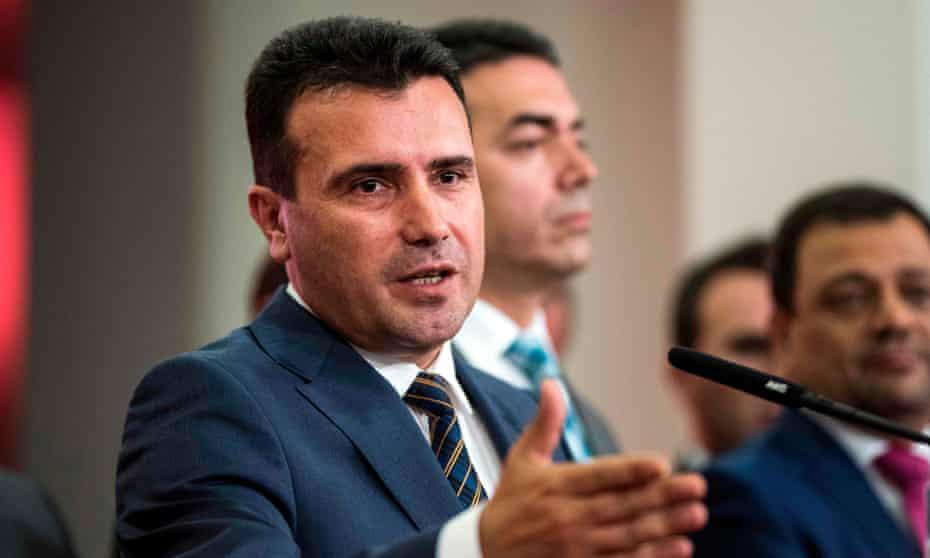 Zoran Zaev, the Macedonian prime minister