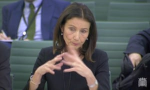Carolyn Fairbairn giving evidence to the Brexit committee.