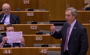 Brussels, Belgium Nigel Farage addresses the European Parliament