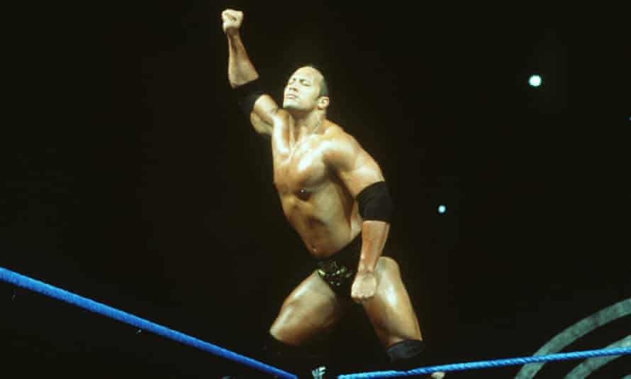 WWF's The Rock poses in 2000.