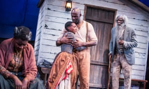 'Gleaming with good intention': Sarah Niles, Nadine Marshall, Steve Toussaint and Leo Wringer in Father Comes Home from the Wars.