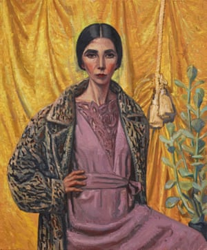 Yvette Coppersmith's Self-portrait, after George Lambert'