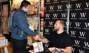 England rugby player James Haskell at a signing for his book Perfect Fit at Waterstones in London on Thursday.