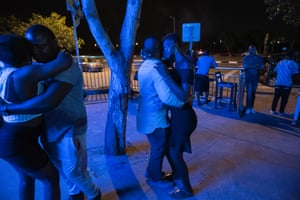 Couples dance into the small hours