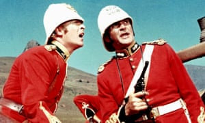 Michael Caine, with Stanley Baker, in 1964's Zulu, the film that brought him to fame.
