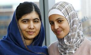 Muzoon with Malala Yousafzai.