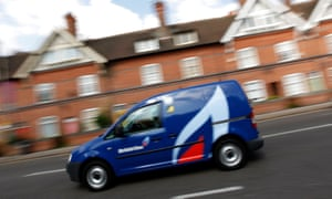 A British Gas van is driven through Leicester