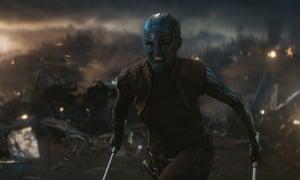 Karen Gillan as Nebula in Avengers: Endgame.