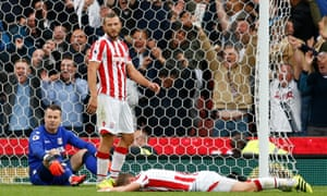 Stoke's defence was pulled apart by Tottenham in Saturday's 4-0 defeat.