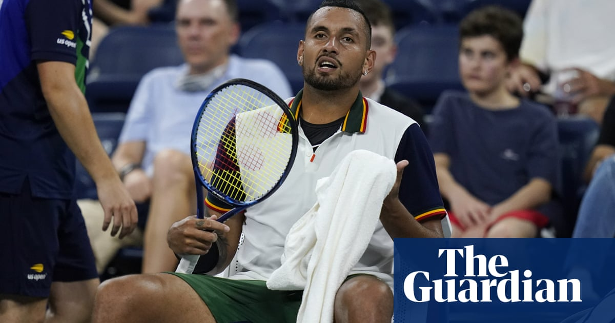 Nick Kyrgios loses cool over towels in heat of US Open first-round defeat