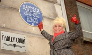 Barbara Windsor plaque Kenneth Williams