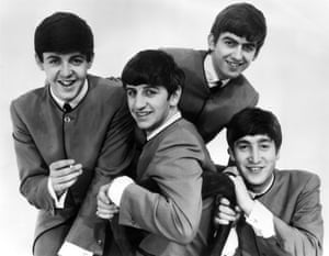 Ringo Starr, centre, with the Beatles.