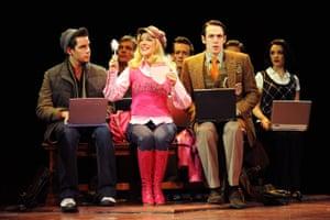 Dan Burton, Sheridan Smith and Matthew McKenna in Legally Blonde, Savoy theatre, London 2010