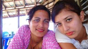 Bisheshtra Bhandari with her mother, Bimala Pokharel, Sindhuli, Nepal