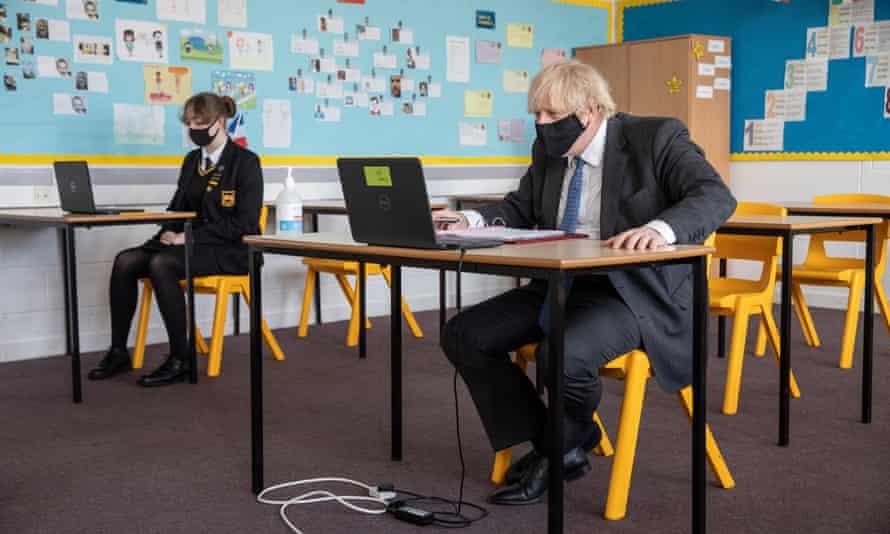 Boris Johnson Visits London School Ahead Of Student Return