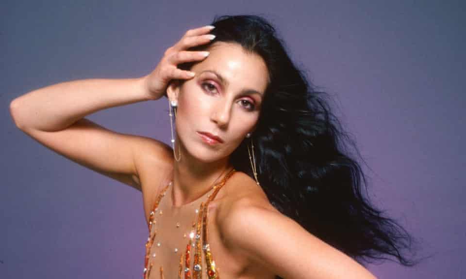 Cher in full 1978 disco-diva mode.