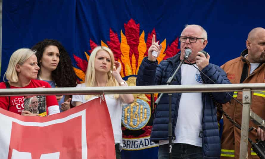 Ronnie Draper addressing Jeremy Corbyn supporters at a rally in Parliament Square in June.