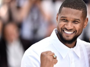 Usher attends the Hands Of Stone photocall